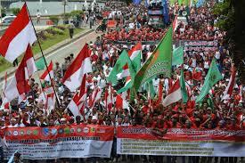 Aksi long march Gekanas (foto istimewa)