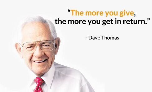 dave thomas power of giving